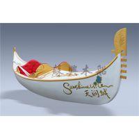 5m贡多拉木船 精品贡多拉手划船 欧式景观装饰船 刚朵拉摆件木船