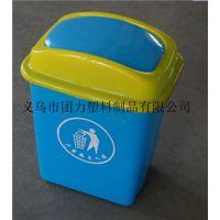 厦门 20升塑料垃圾桶 方盖酒店客房垃圾桶