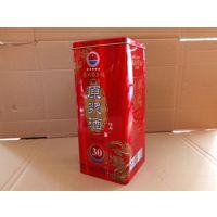 优质白酒铁盒包装,山东酒盒厂家专业定做各种白酒外包装盒子