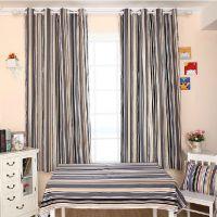 灰色条纹帆布窗帘半遮光窗帘布料 连锁酒店窗帘专用