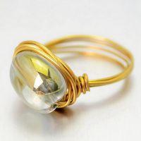 欧美外贸eBay 速卖通 水晶戒指 手工编织 手工饰品 戒指 不规则