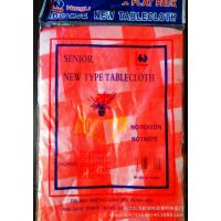 一次性桌布厂家直销单包装婚庆红格子印花塑料防水防油免洗台布