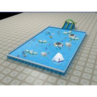 五环精诚北京室内儿童充气水上乐园滑梯组合成人游泳池免费设计水上滑梯