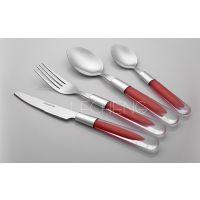 揭阳市乐诚餐具 塑料手柄餐具套装 刀叉勺16件套