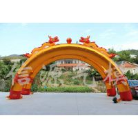 供应8米金色双龙2连体拱门