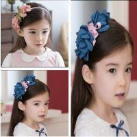 【2元店】宝宝儿童发饰品 儿童头饰 雪纺玫瑰珍珠发箍 儿童发箍