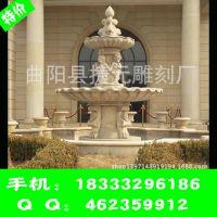 曲阳雕刻厂家直销批发风水球喷泉 石雕喷泉 园林别墅小区喷泉