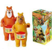 央视热播 熊出没 上链熊大熊二打鼓 发条打鼓手熊大熊二上链玩具