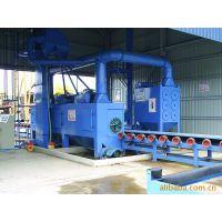 龙特通过式型钢抛丸机、方管角铁工字钢抛丸除锈机、钢板除锈机