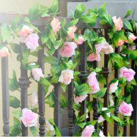 高档仿真花 仿真玫瑰 韩国玫 假花 装饰藤条 婚庆装饰 花藤