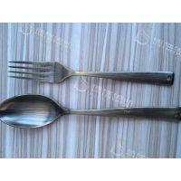 304镀铜拉丝不锈钢餐具 家居金属制品材料