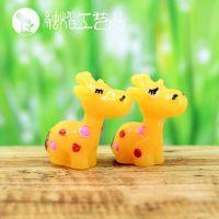 小世界 迷你长颈鹿公仔 苔藓微景观摆件 生态瓶DIY玩具 多肉植物