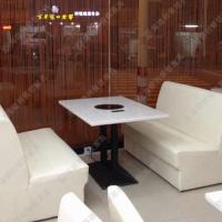 代理加盟 现代时尚大理石火锅桌椅 火锅店/烤肉店使用 可定制