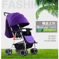 时尚高景观可坐可躺轻便携带婴儿推车四季通用童车
