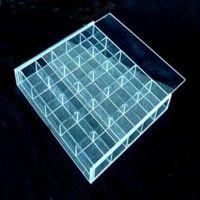 深圳有机玻璃多格收纳架  亚克力化妆品/小饰品/文具/杂物陈列架