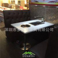 大理石火锅桌椅 铸铁火锅桌椅 电磁炉烧烤桌 厂家定制批发