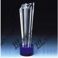 水晶奖杯,企业商务会议庆典促销赠品,人造水晶加工生产商