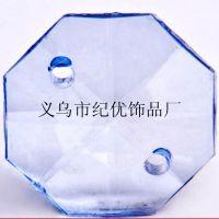 义乌批发门帘配件珠子 双孔透明塑料八角珠 14MM亚克力八角珠
