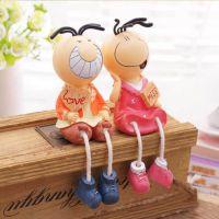 新款三毛吊脚娃娃 彩绘树脂工艺礼品 隔板电表箱家居装饰摆件批发