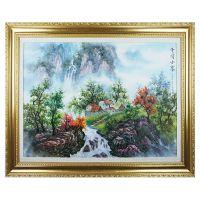 Fenkler/芬克诺尔 100%手绘油画客厅卧室装饰画 江南风景