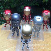 钢铁侠3动漫 Q版1代6款公仔手办底板 钥匙扣挂件 Ironman模型摆件
