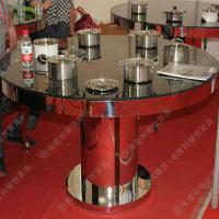 高档餐厅餐桌 雕花桌脚玻璃钢火锅桌 环保无烟火锅桌椅 欢迎定做