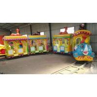 郑州轨道小火车游乐设备 游乐设备小火车 优质玻璃钢制作