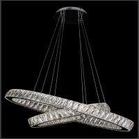 时尚创意水晶客厅吊灯led水晶不锈钢酒店餐厅吊灯卡骐灯饰照明