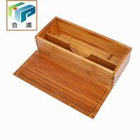 韩国料理竹子带盖筷子盒筷子笼韩式筷子勺子收纳盒两格