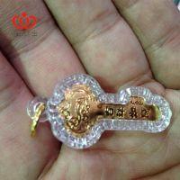 迷你可佩戴时24K金箔+亚克力包装金钥匙  促销赠品 新年礼品