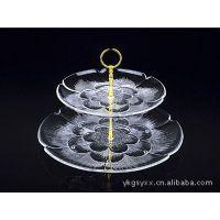 永康亚克力生产厂家批发 两层透明水晶材质 果盘