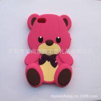 【厂家现货】塑胶熊手机套 小熊手机套 硅胶手机套 矽胶手机套