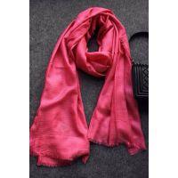 外贸正品尼泊尔进口客供山羊绒真丝围巾 欧洲站精工手工编织披肩