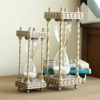 家居装饰品创意礼物工艺品书房摆件 四边形树脂沙漏沙钟计时器
