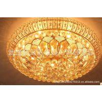 led水晶灯金黄色豪华水晶吸顶灯欧式客厅灯灯具灯饰