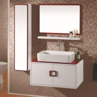 佛山卫浴洁具 欧式橡胶实木浴室柜 高档白色浴室柜 A005