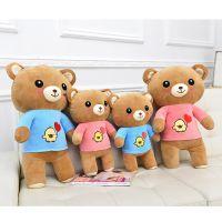 新品批发供应毛绒玩具泰迪熊公仔海军情侣轻松熊玩偶玩具厂家直销
