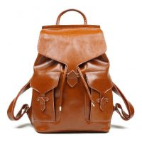 2015新款真皮女包时尚英伦学院风双肩包休闲背包包 女士包