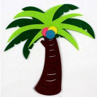 幼儿园装饰用品批发教室主题墙面布置 无纺布椰子树(大号)墙贴