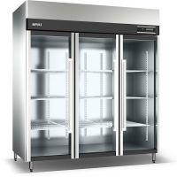 立式玻璃门冷柜 商用不锈钢冰柜 酒店厨房蔬菜鲜肉保鲜冷藏展示柜