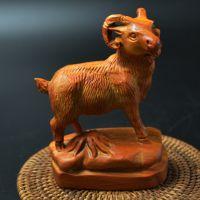 木质工艺品崖柏手把件《美羊羊》特色礼品文玩收藏小摆件厂家批发