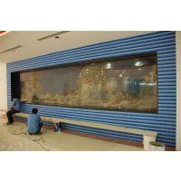 广州写字楼观赏鱼缸厂家定做,哪里定做办公室屏风鱼缸,写字楼大堂观赏鱼缸上门安装过滤改造
