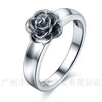 鑫博蕙925银饰定做纯银戒指时尚女士花朵戒指广州原创设计