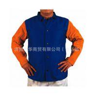 威特仕雄蜂王上身焊服,防火阻燃布衫身配皮袖 33-3060