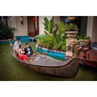 6m特色贡多拉木船 婚纱摄影观光船 贡多拉手划船 颜色可选配