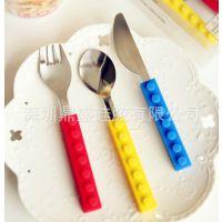 出口餐具套装 食品级迷你硅胶餐刀/餐具批发 (三件套)