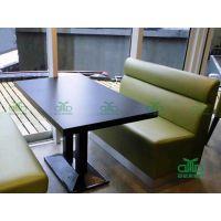 佛山厂家直销 茶餐厅家具 防火板快餐桌椅 现代餐厅四人位餐桌