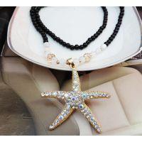 厂家直销新款海星佛珠毛衣链 韩版时尚女士长款串珠项链