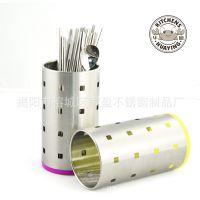 揭阳厂家直销 厨房置物架 不锈钢筷子筒 镂空筷笼 厨具收纳架 批发