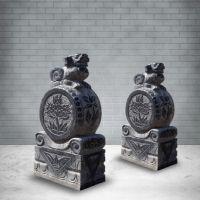 天和雕塑青石做旧老石鼓仿古貔貅招财抱鼓门墩